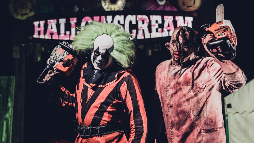 york maze hallowscream. hallowscream at york maze is a live-action scare event, with five separate haunted house attractions for visitors to brave. there wide range of food,